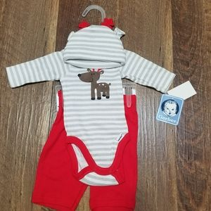 NEW!!! Infant NB Reindeer 3pc. outfit